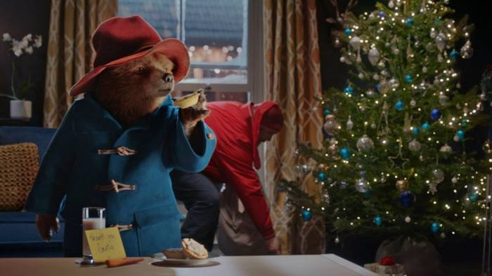 Undated handout image issued by Marks and Spencer of a still from their latest Christmas advert called Paddington and the Christmas Visitor, which features Paddington Bear inadvertently saving Christmas for his neighbours. PRESS ASSOCIATION Photo. Issue date: Tuesday November 7, 2017. The advert's airing comes at a difficult time for the retailer which is poised to release another set of grim figures when it reports for the half year on Wednesday. See PA story CONSUMER M&S. Photo credit should read: Marks & Spencer/PA Wire NOTE TO EDITORS: This handout photo may only be used in for editorial reporting purposes for the contemporaneous illustration of events, things or the people in the image or facts mentioned in the caption. Reuse of the picture may require further permission from the copyright holder.