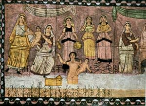 Mosaic depicting 'The Infant Moses and the Pharaoh's Daughter'