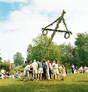 Swedes around the maypole
