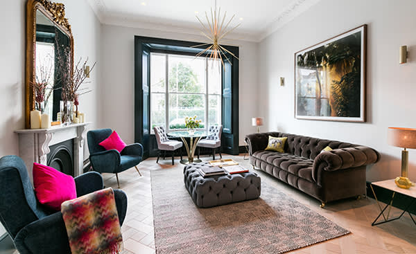 Onslow Gardens – SW7. Guide price £1.795m (previously £1.895m) A magnificent two bedroom, two bathroom maisonette on the ground and lower ground floors of this Grade II listed Victorian period house overlooking Onslow Gardens. The apartment is newly refurbished and has been modernised to an exceptional standard and benefits from access to the well maintained communal gardens