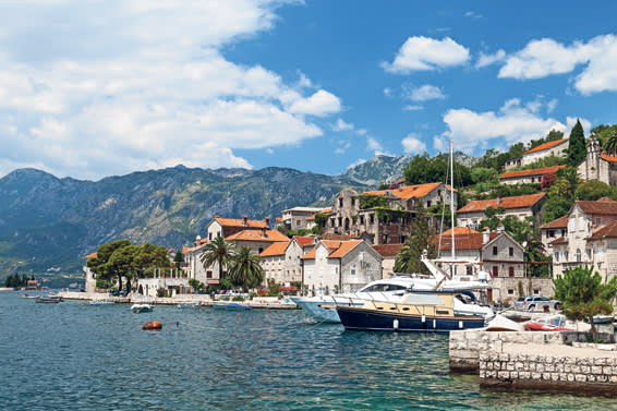 The port of Perast in the Bay of Kotor, an old town preserved by strict planning laws