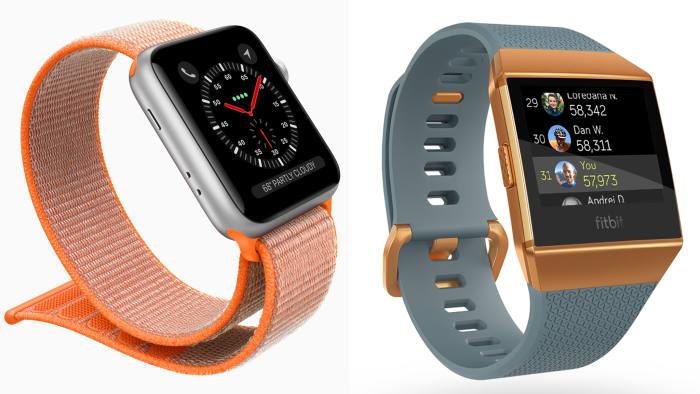 db303ffe0 Both Apple Watch Series 3 (left) and Fitbit Ionic (right) execute well on  the essential features of a smartwatch today
