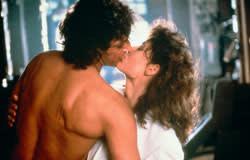 Jeff Goldblum with Geena Davis in 'The Fly'(1986)