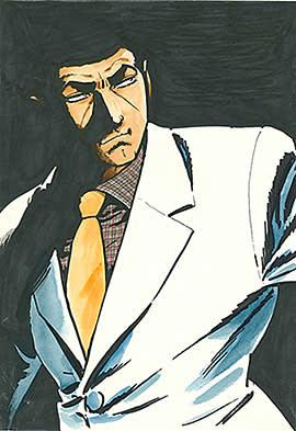 Takao Saito's drawing of his anti-hero