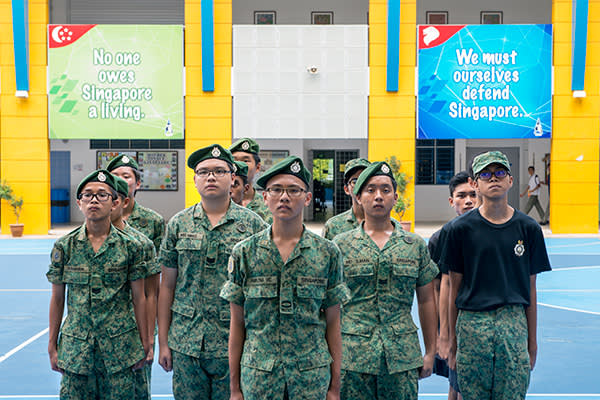 Many Admiralty students participate in military cadet groups after school