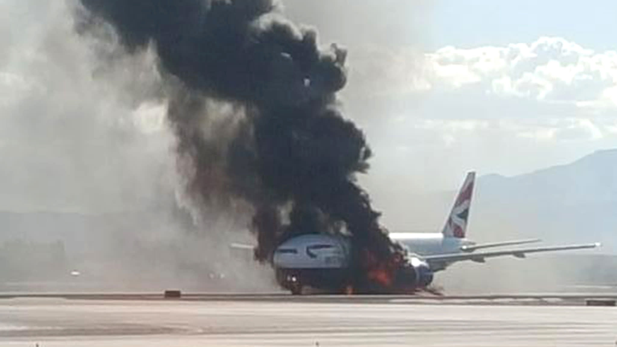 BA to help accident investigators after Las Vegas jet fire | Financial Times