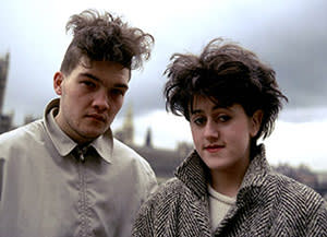 Ben Watt with his wife Tracey Thorn in 1988 as Everything But The Girl