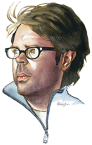 James Ferguson's illustration of Jonathan Franzen
