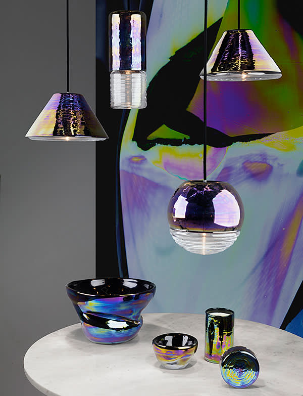 Flask pendant lights and Oil vases
