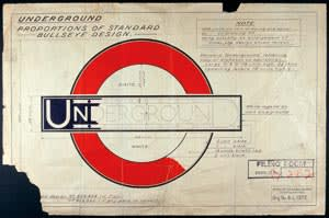 One of Edward Johnston's designs for the London Tube
