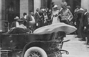 Archduke Franz Ferdinand and his wife Sophie shortly before their final, fateful journey