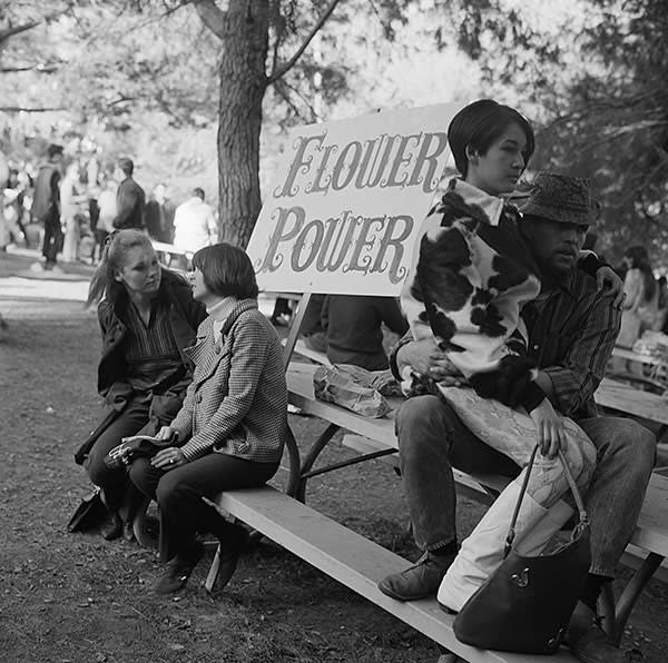 A 'love-in' at Griffith Park in Los Angeles, 1967