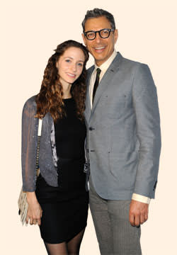 Jeff Goldblum with Emilie Livingston in March 2013