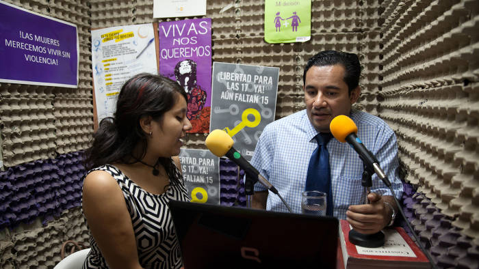 Morena Herrera with Jorge Menjívar, a spokesman for Citizen Group for the Decriminalisation of Abortion