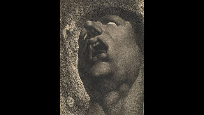 'Head of a Damned Soul' (1789-90) after Henry Fuseli