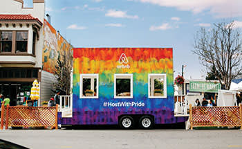 Airbnb's mobile pop-up at Pride in San Francisco in June 2015