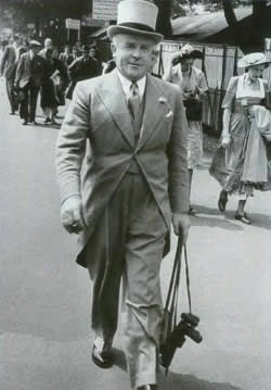 Ronnie Cornwell, Le Carré's father, at Ascot, 1950s