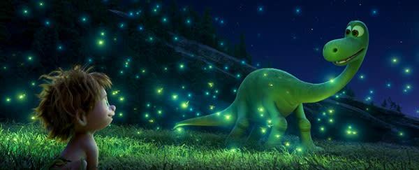 "An Apatosaurus named Arlo makes an unlikely human friend in Disney•Pixar's ""The Good Dinosaur."""