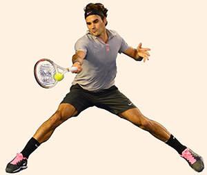 Roger Federer (Switzerland) at the Australian Open, January 2013
