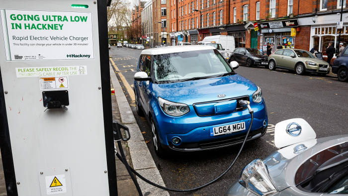 Tuppence a mile: low-cost electric vehicles at a recharging point in London