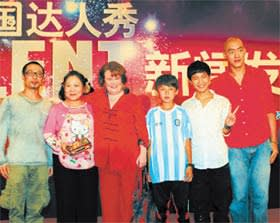 Susan Boyle with 'China's Got Talent' finalists