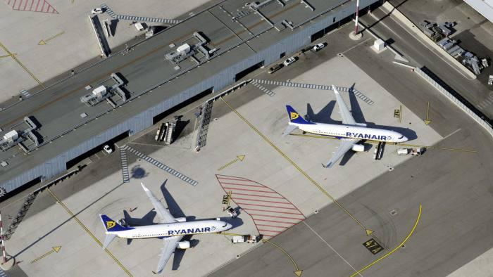 Aerial view taken on October 17, 2010 of
