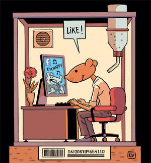 Illustration of a lab rat