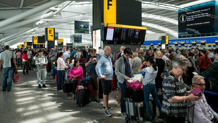 The outage left around 75,000 passengers stranded over the bank holiday weekend