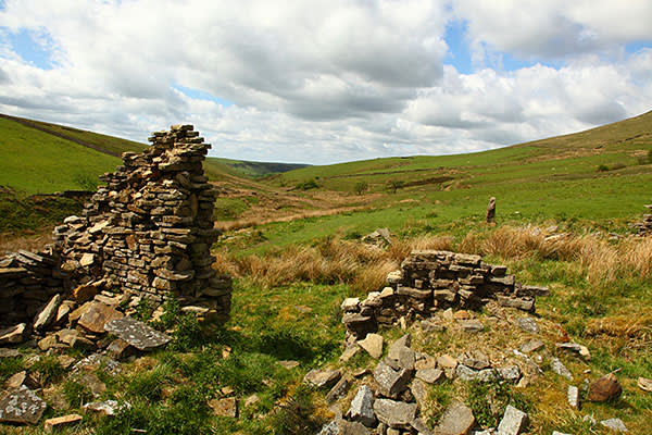 The ruins at Thursbitch, Peak district national park, Cheshire, England,UK. Image shot 06/2010. Exact date unknown.