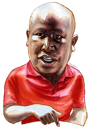 Julius Malema illustration by James Ferguson