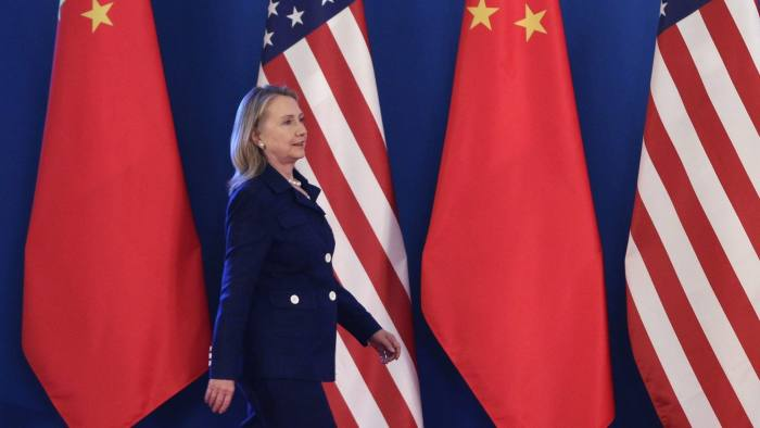 U.S. Secretary of State Clinton arrives for joint statement reading in Beijing...U.S. Secretary of State Hillary Clinton arrives for the joint statement reading for the closing of the US-China Strategic and Economic Dialogue at Diaoyutai State Guesthouse in Beijing, May 4, 2012. Clinton told Chinese President Hu Jintao on Friday that relations between their two countries were the strongest they had ever been, even as the two countries are engaged in a spat over China's treatment of a blind dissident. REUTERS/Jason Lee (CHINA - Tags: POLITICS BUSINESS)