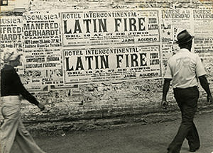 A photograph from Ever Astudillo's 'Latin Fire' series (1975-8)