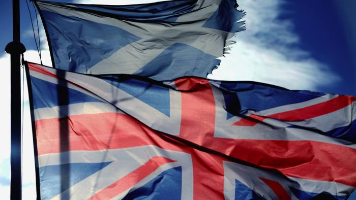 The Union Jack and St Andrew's Cross