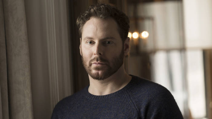 Sean Parker in his New York apartment