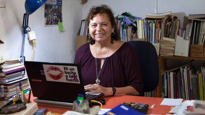 Morena Herrera, a former Marxist guerrilla, now director of the San Salvador Feminist Collective and pro-abortion activist