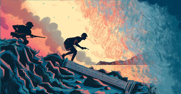 Adam Foulds book review illustration by Tom Cole