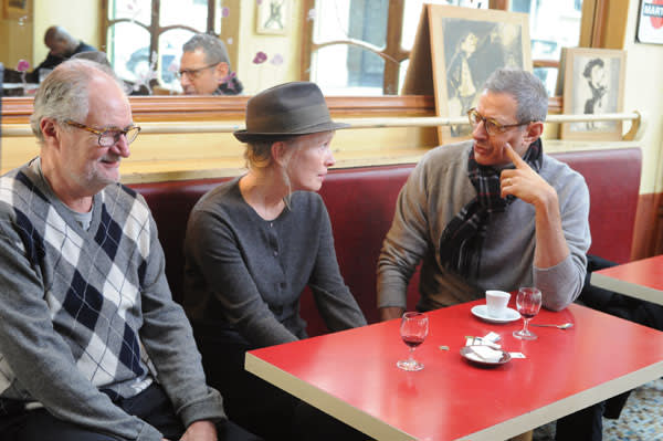 Jeff Goldblum with Lindsay Duncan and Jim Broadbent in 'Le Week-End'