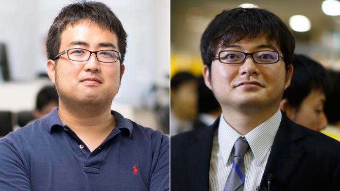 Daisuke Okanohara (left) and Toru Nishikawa