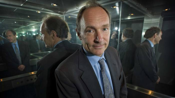 Sir Tim Berners-Lee, one of the inventors of the World Wide Web, at the Royal Academy of Engineering