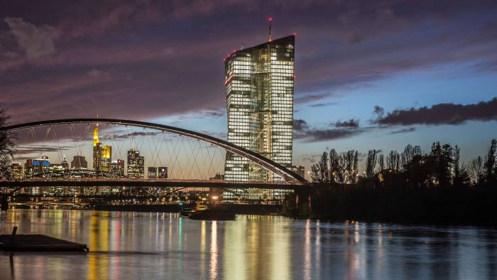 The new European Central Bank (ECB) building under construction is pictured on October 21, 2014 in Frankfurt am Main. AFP PHOTO / DPA / FRANK RUMPENHORST /GERMANY OUTFRANK RUMPENHORST/AFP/Getty Images