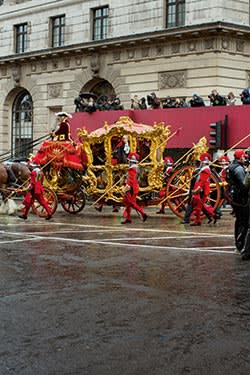 The new Lord Mayor of London Fiona Woolf pictured in her ceremonial coach