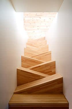Aerial view of staircase by TAF Gabriella Gustafson & Mattias Stahlbom, prices range from €2,000-€8,000