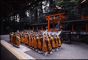 Monks on Mount Koya, Japan