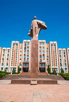 A statue of Vladimir Lenin in Tiraspol