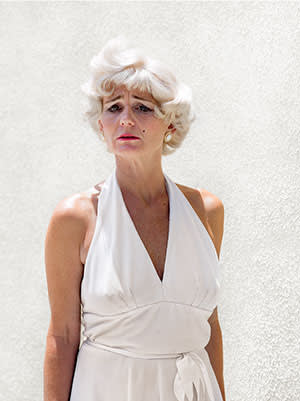 A woman in Marilyn Monroe costume, photogrphed by Katy Grannan in Boulevard, Los Angeles, California 2008-2010