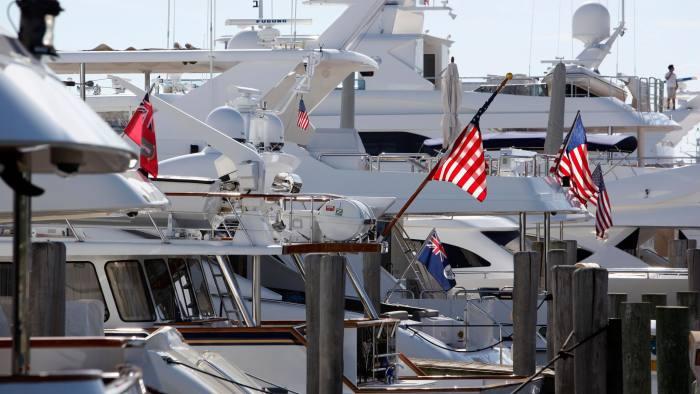 Yachts in the marina at Sag Harbor, New York