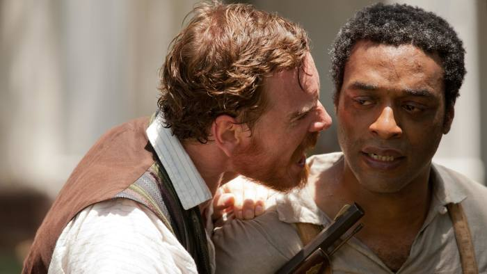 Michael Fassbender and Chiwetel Ejiofor in '12 Years a Slave'