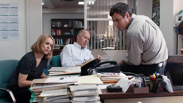 Rachel McAdams, Michael Keaton and Mark Ruffalo in Tom McCarthy's Oscar favourite 'Spotlight'