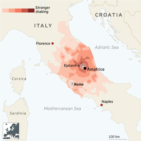 Earthquake strikes Italy