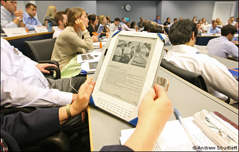 Students at Darden business school using Kindle